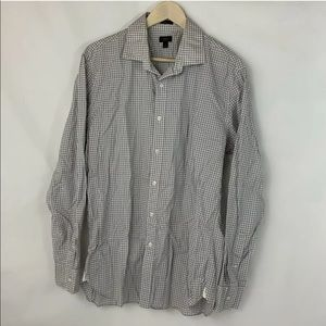 J. Crew Crosby 120's 2 Ply Button Down Large Shirt